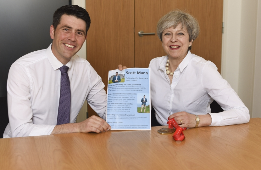 Scott Mann and Theresa May